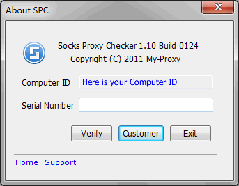 Socks Proxy Checker About Dialog