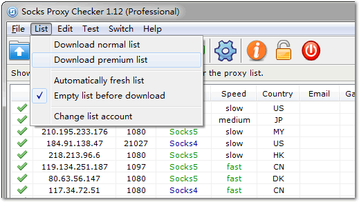 Download socks proxy list from My-Proxy